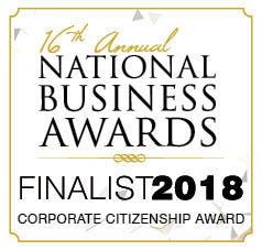 2018 National Business Awards Finalist