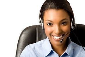 call-center lady